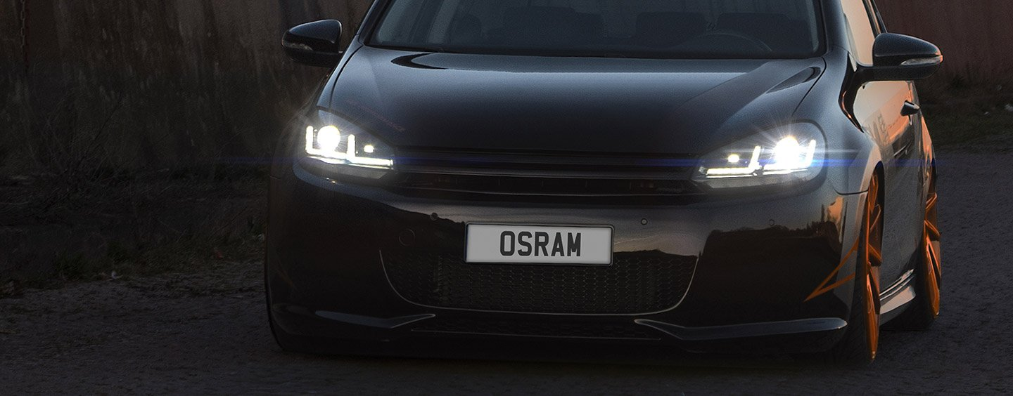 osram 39 s new golf mk6 road legal black edition halogen to. Black Bedroom Furniture Sets. Home Design Ideas