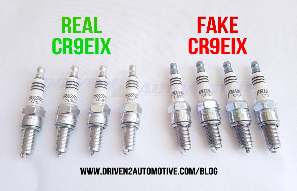 How to Spot Fake NGK CR9EIX (3521) Iridium IX Spark Plugs