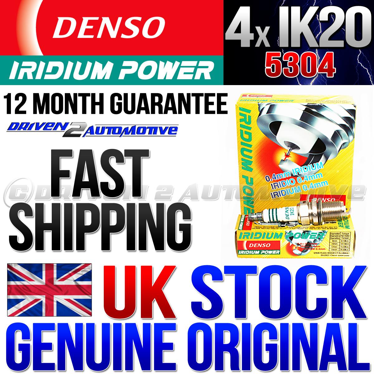 4x-DENSO-IK20-IRIDIUM-POWER-3764-SPARK-PLUGS-1998-Mitsubishi-Montero-Sport-XLS