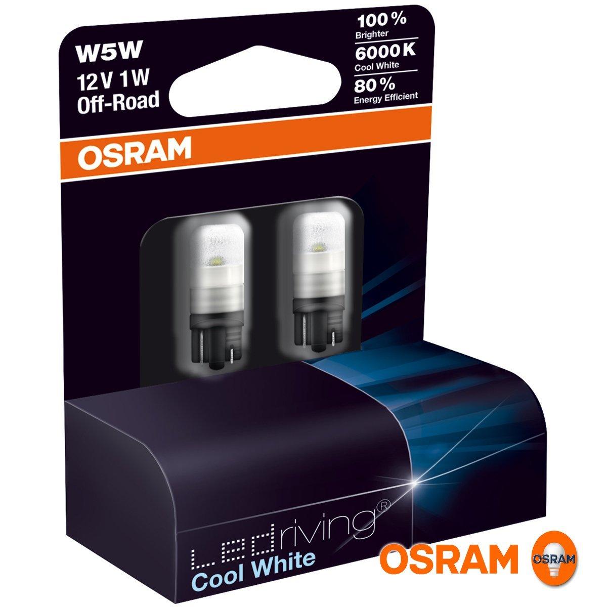 2 x osram w5w 501 t10 led cool blue intense sidelight. Black Bedroom Furniture Sets. Home Design Ideas